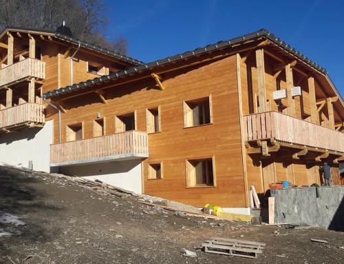 Bardage d'un chalet en Haute-Savoie